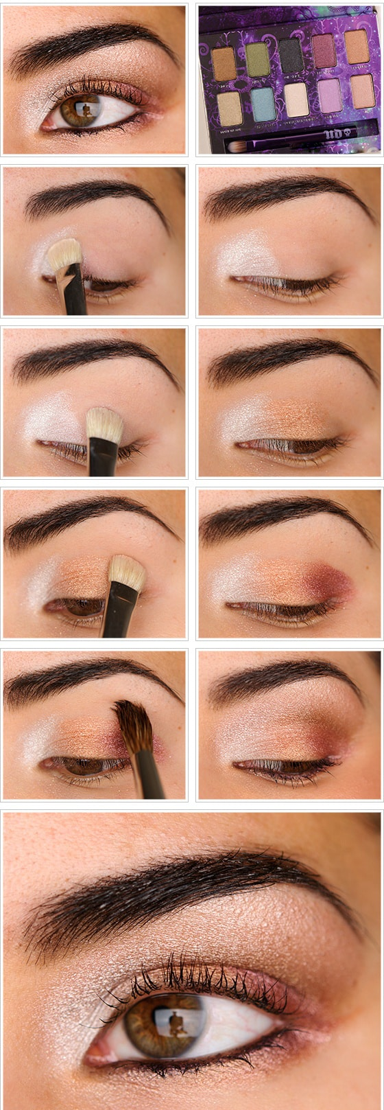Makeup of light colors