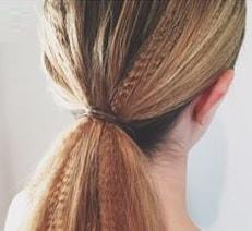 waffle texture ponytail