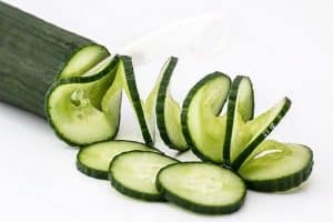 Losing weight eating cucumbers