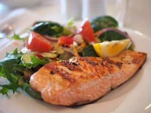 Lose weight eating salmon