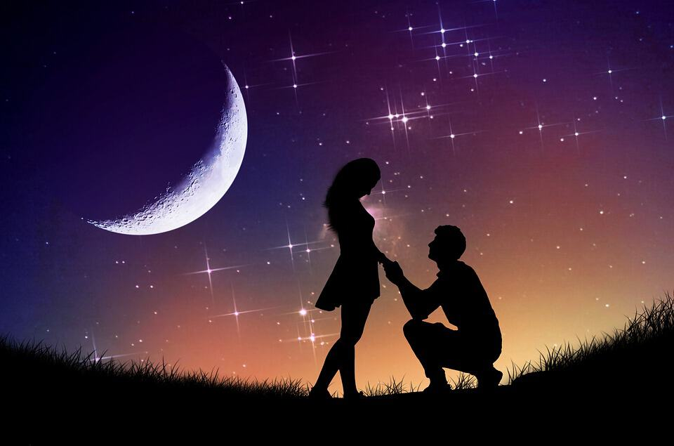 marriage proposal under the stars