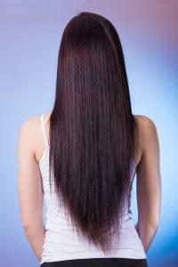 Straight hair brushing