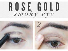 Rose gold smoky eyes