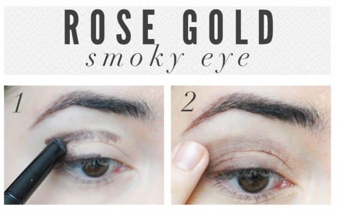 Rose gold smoky eyes
