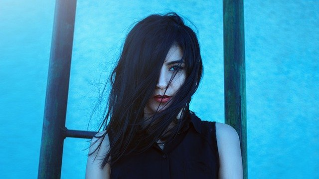 Gothic style pretty girl